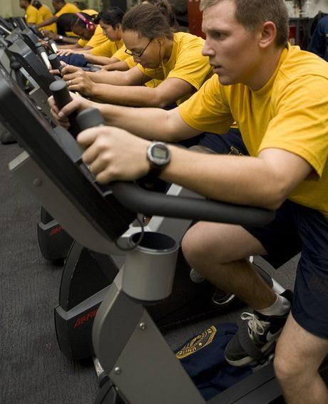 Motionscykler i gym
